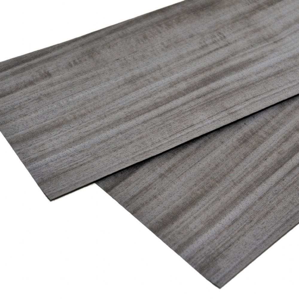 "Koto pre dyed grey wood veneer. Set of 2 sheets 22"" x 7,5"""